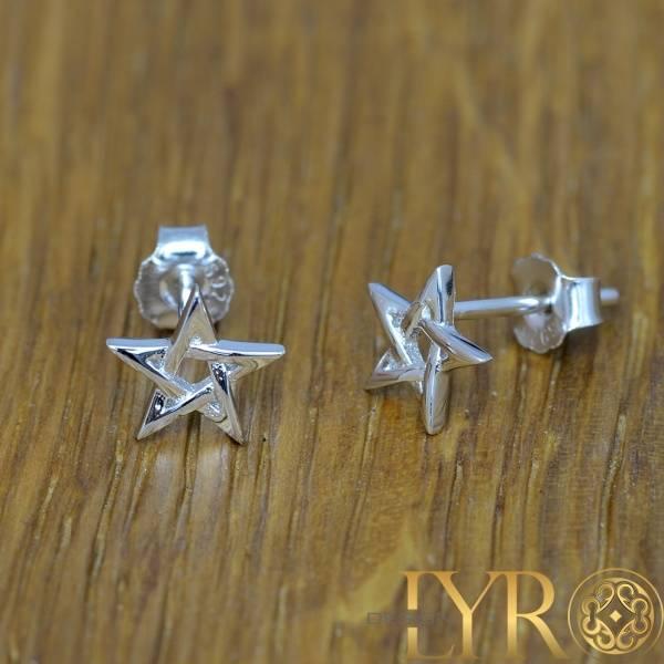 Bilde av Pentagram øredobber - Sølv