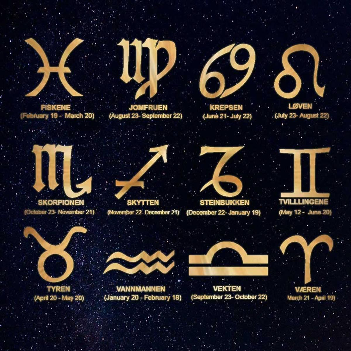 Halskjede med stjernetegn - Gullbelagt