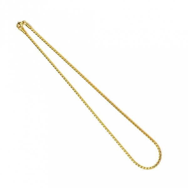 Bilde av Stålkjede - Gullfarget - Rund Twist 46 cm / 2,2 mm
