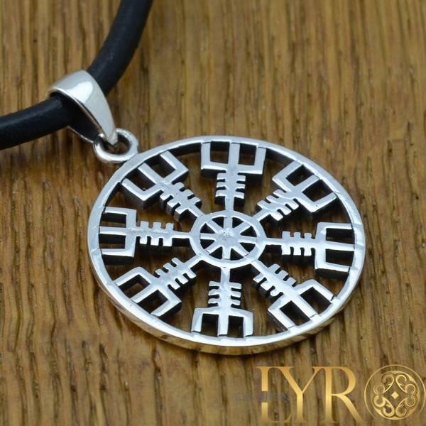 Bilde av Ægishjálmr Amulett - Sølvanheng